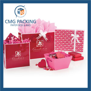 Red Customized Color Paper Jewelry Bag (DM-GPBB-150) pictures & photos