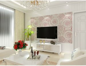 Seamless Luxury Classic Circles Embossing Wallpaper Fabric Hotel Bedroom Livingroom pictures & photos