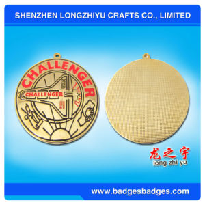 Custom Shaped Medal with Logo Enamel Gold Metal Medal pictures & photos