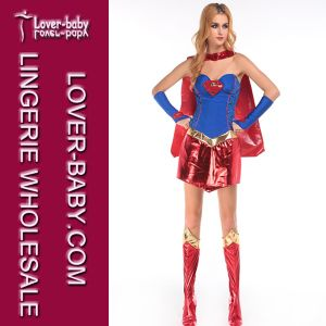 Halloween Movies Adult Superhero Sexy Supergirl Costume (L15258) pictures & photos