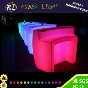 Event&Party Lounge Furniture Plastic Glowing Round LED Bar pictures & photos