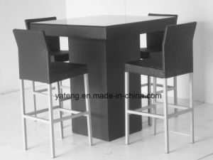 Knockdown Outdoor Club Cafe Table Set with Club Chair (YT131) pictures & photos