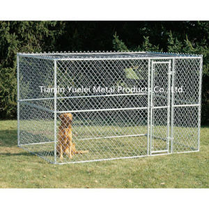 Large Chain Link 6′x10′x6′ Dog Kennel Pet Pen Fence Run Outdoor House Enclosure pictures & photos