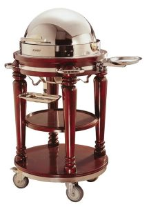 Luxury Wooden Buffet Dinner Handcart with Chafing Dish Top (C-29) pictures & photos