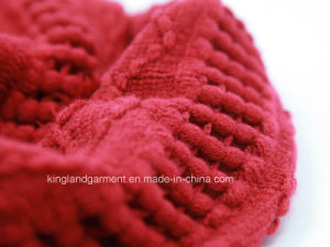 100% Acrylic Fashion Red Warp Knitted Neck Scarf pictures & photos