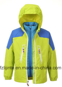 Kids Clothes 2 Pieces Set Waterproof Jacket pictures & photos