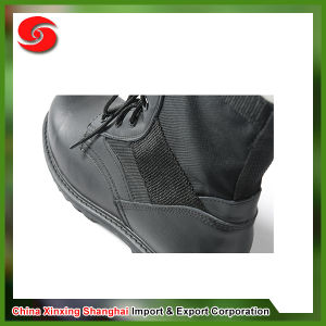 Military Genuine Leather Fashionable Black Military Combat Boots pictures & photos