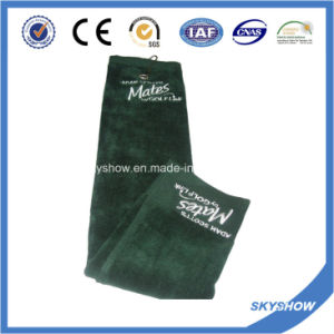 100% Cotton Velour Golf Towel with Embroidery Logo (SST1022) pictures & photos