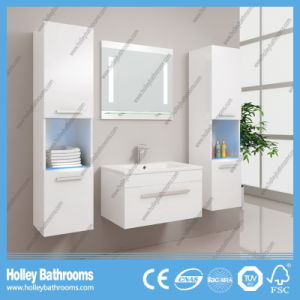 Hot LED Light Touch Switch High-Gloss Paint Bathroom Cabinet (B803D) pictures & photos