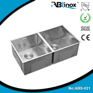 Double Bowl Kitchen Stainless Sink ABS021 pictures & photos