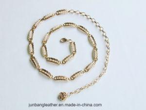 New Fashion Women′s Accessories Chunky Gold Waist Hip Belt Chain