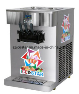 Table Model Double Cylinder Soft Ice Cream Machine/Double Color R3120b pictures & photos
