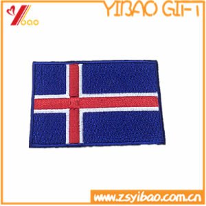 Factory Price Customizable Delicate Merrow Border Embroidery Flag Patches with Iron-on pictures & photos