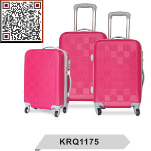Cheap ABS 3PCS Travel Trolley Luggage Suitcase pictures & photos