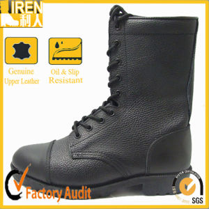 Cheapest All Leather Black Military Boots pictures & photos