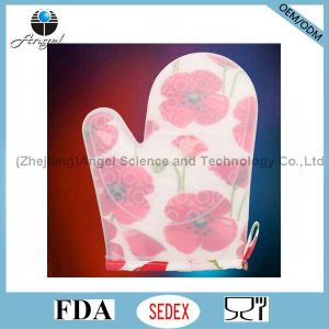 Wholesale Short and Thick Silicone Oven Glove Sg21