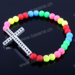 Fashion Bracelet with CZ Stone on String Handmade Gift pictures & photos