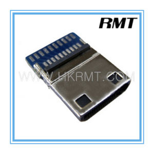 Mini HDMI 19p C Type Male Connector (RMT-160325-024) pictures & photos