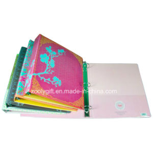 Customized Printing PVC 3 Ring Binder with Transparent PVC Pockets Inside pictures & photos