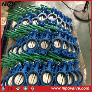 Wafer Type Line with Rubber Butterfly Valve pictures & photos