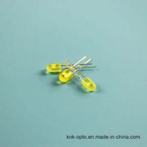 5mm Oval Yellow Diffused LED pictures & photos