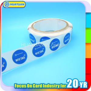 Tamper proof Paper 13.56MHz Ntag213 NFC in Roll Label sticker pictures & photos