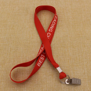Wholesale Cheapest Polyester Printed Lanyards with Safety Buckle pictures & photos