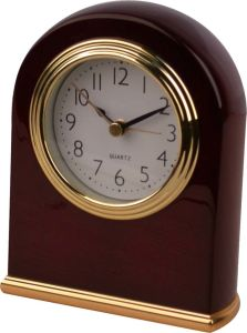 Wooden Table Alarm Clock in Mahogany Color pictures & photos