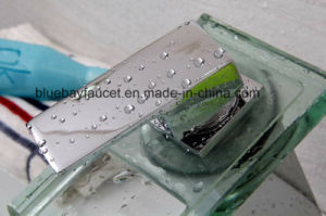 Square Glass Waterfall Bath Basin Tap Single Lever Faucet pictures & photos