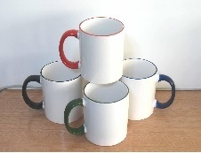 11oz Sublimation Rim & Handle Colored Mug Used to Transfer Individual Design pictures & photos