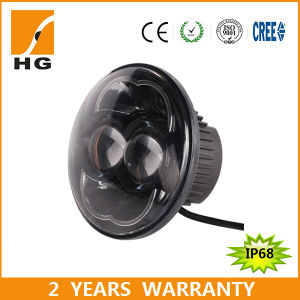 5.67′′ LED Motorcycle Headlights LED High Low Beam 5′′ Headlight pictures & photos