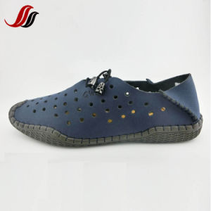 New Design High Quality Men′s Breathe Casual Leather Shoes Driving Shoes (FMF9) pictures & photos
