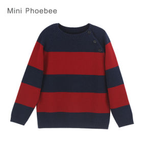 Phoebee Knitted Clothing Wool Boy Sweater for Winter pictures & photos