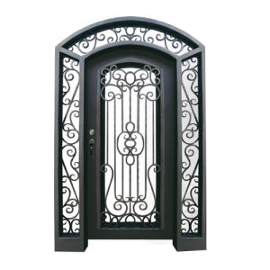 Luxurious Round Top Iron Security Entry Door pictures & photos