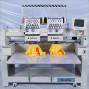 Multi Head Flat T-Shirt Cap Computerized Embroidery Machine with 2 to 12 Head