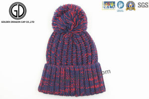 2016 Trendy Winter Warm Knitted Beanie Cap with New Design pictures & photos