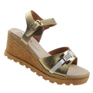 Gorden PU Upper Hemp Rope High Heel Sandal for Women