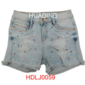 Wholesale New Design Women′s Shorts Denim Jeans (HDLJ0059) pictures & photos