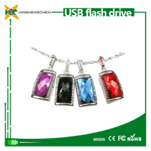 Crystal Flash Drive USB with Necklace Style USB Disk pictures & photos