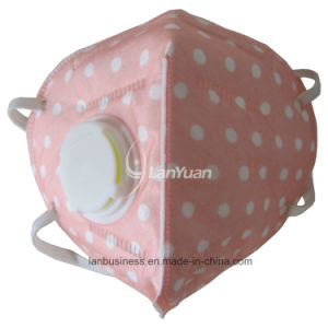 Peach Nonwoven Face Mask with White Dots Pattern and Valve pictures & photos