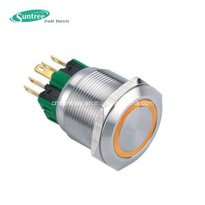Waterproof Stainless Steel Spst Metal Pushbutton Switch pictures & photos