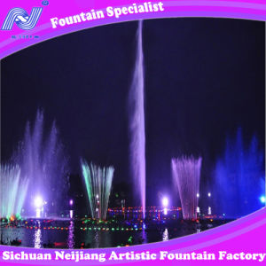 Music Dancing Fountain in Coiorful Lighting Outdoor Fountain in Lake