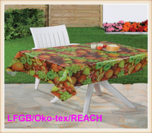 PVC/Plastic Printed Clear Tablecloth Factory pictures & photos