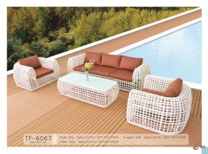 Luxury Big Round Wicker Indoor Outdoor Sofa Set