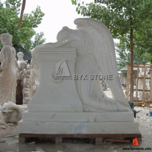 China White Marble Weeping Angel Carving Monument pictures & photos