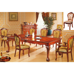 Wood Table and Dining Chair for Dining Room Furniture (H8118) pictures & photos