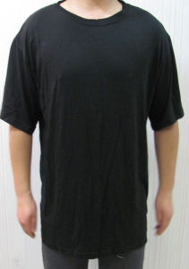Bamboo Men′s Black Short Sleeve T-Shirts pictures & photos