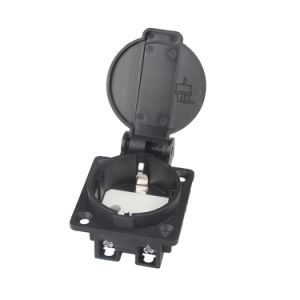 (050201 square) Ce TUV 16A IP44 Waterproof Euro German Schuko Electrical Power Outlet Socket Receptacle for Industrial Generator Plug with Children Protection pictures & photos