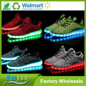 Comfortable Breathable Summer USB Rechargeable LED Flash Shoes Men Shoe pictures & photos