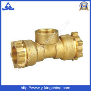 Brass Bathroom Coupling Tee Fitting for Bathroom Accessories (YD-6053) pictures & photos